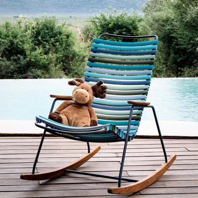Click Kids Rocking Chair Kinder Schaukelstuhl Stühle Houe Farbe: graublau günstig online kaufen