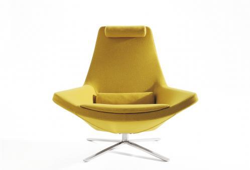Metropolitan Kleiner Sessel - Vierfuß | Stoff