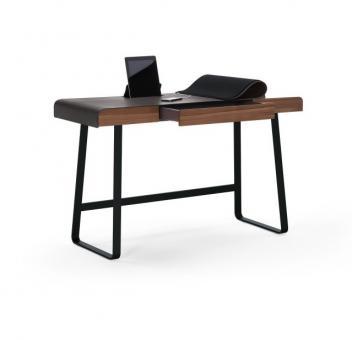Pegasus Home Desk Tiefschwarz | Nussbaum massiv