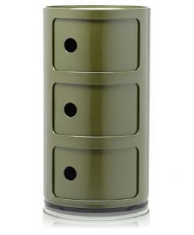 Componibili 4967 Ø32cm Container mit 3 Fächern grün