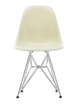 Eames Fiberglass Chairs DSR parchment | verchromt
