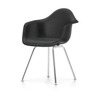 Eames Plastic Armchair DAX verchromt | basic dark | dunkelgrau 05