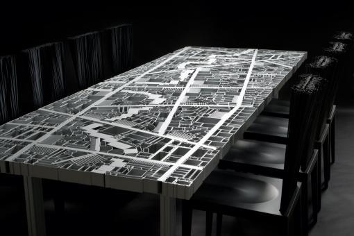 Baghdad polygonaler Tisch, 35 cm