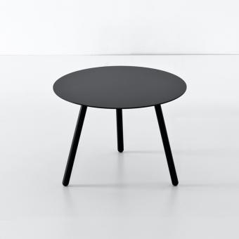 BCN Low Tisch Ø55 x H33 cm | Buche natur  | schwarz