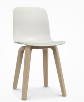 Substance Plywood Stuhl natur | weiss