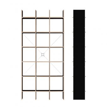 designwebstore fnp regal 3x5 fu schichtholz fu birke schichtholz schwarz. Black Bedroom Furniture Sets. Home Design Ideas