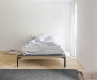 Seiltänzer Bett 140cm | ohne Ablage | rot
