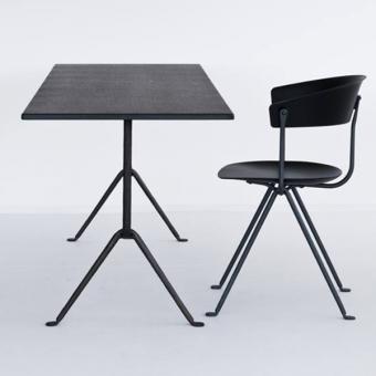 Officina Bistrotisch verzinkt-schwarz | 80x55cm | 75cm