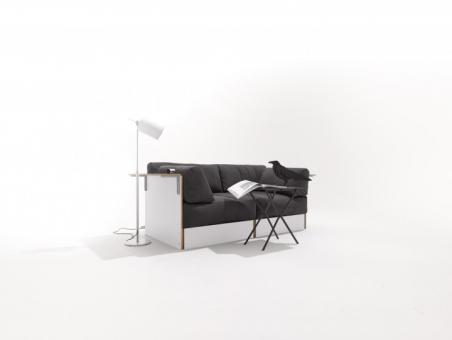 Sofabank 173 x 86,5 x 66cm | weiß