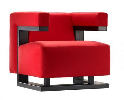 Tecta F51 Stoff rot | klar lackiert
