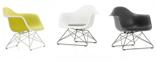 Eames Plastic Armchair LAR glanzchrom | weiss