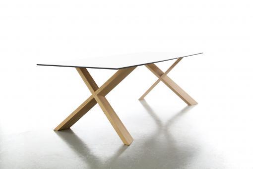X-Man Tisch weiss/Eiche