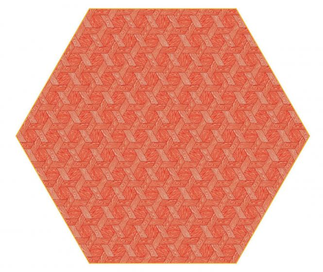 Hexagon Teppich Moooi Carpets Variante: Hexagon red