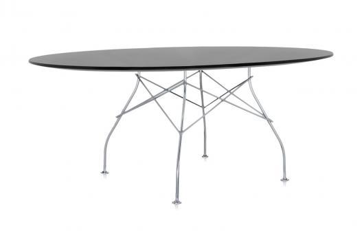 designwebstore | OUTLET Glossy 194x120 cm | oval - schwarz - gold