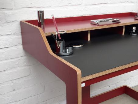 Designwebstore plane sekret r mit linoleum korpus rot linoleum schwarz matt weiss - Linoleum schwarz ...