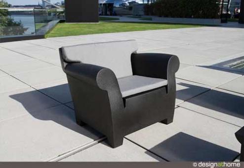 designwebstore bubble club sessel mit polster schwarz gestreift. Black Bedroom Furniture Sets. Home Design Ideas