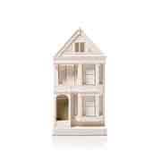 Chisel & Mouse Postcard Row Model Building Miniatur Gebäudeskulptur