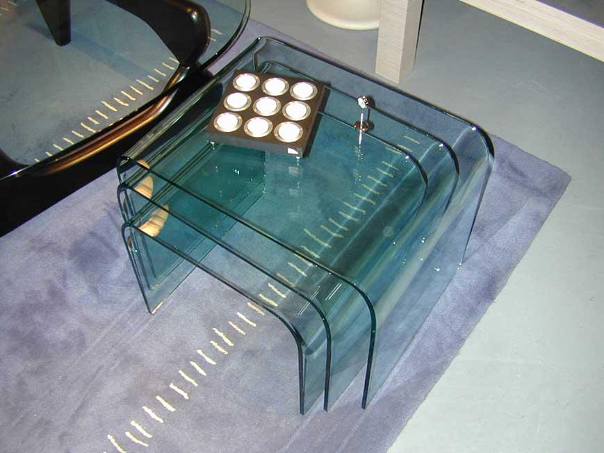 Designwebstore Chiesa Gebogene Glastische 44x45x37cm Einzeln