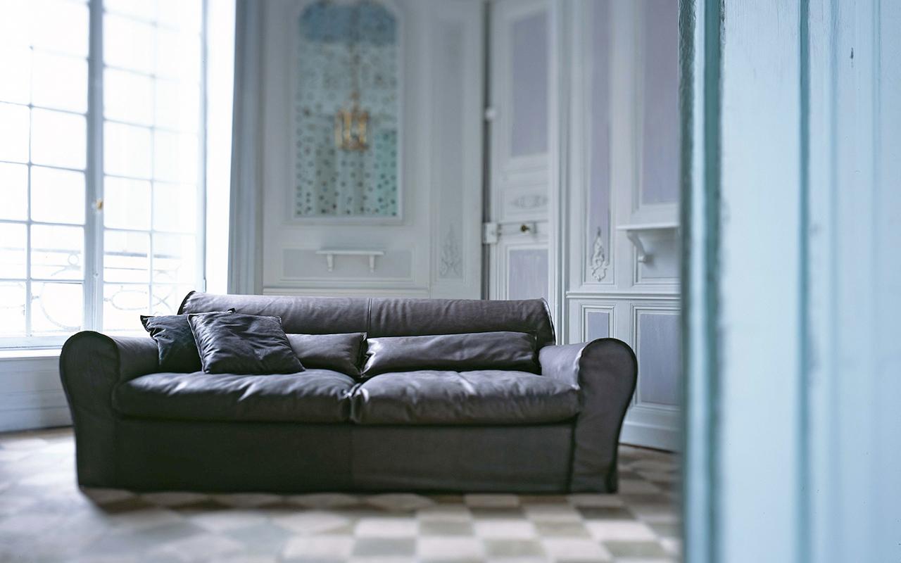 designwebstore | Housse Sofa Pietra (betongrau) | ohne Pouf