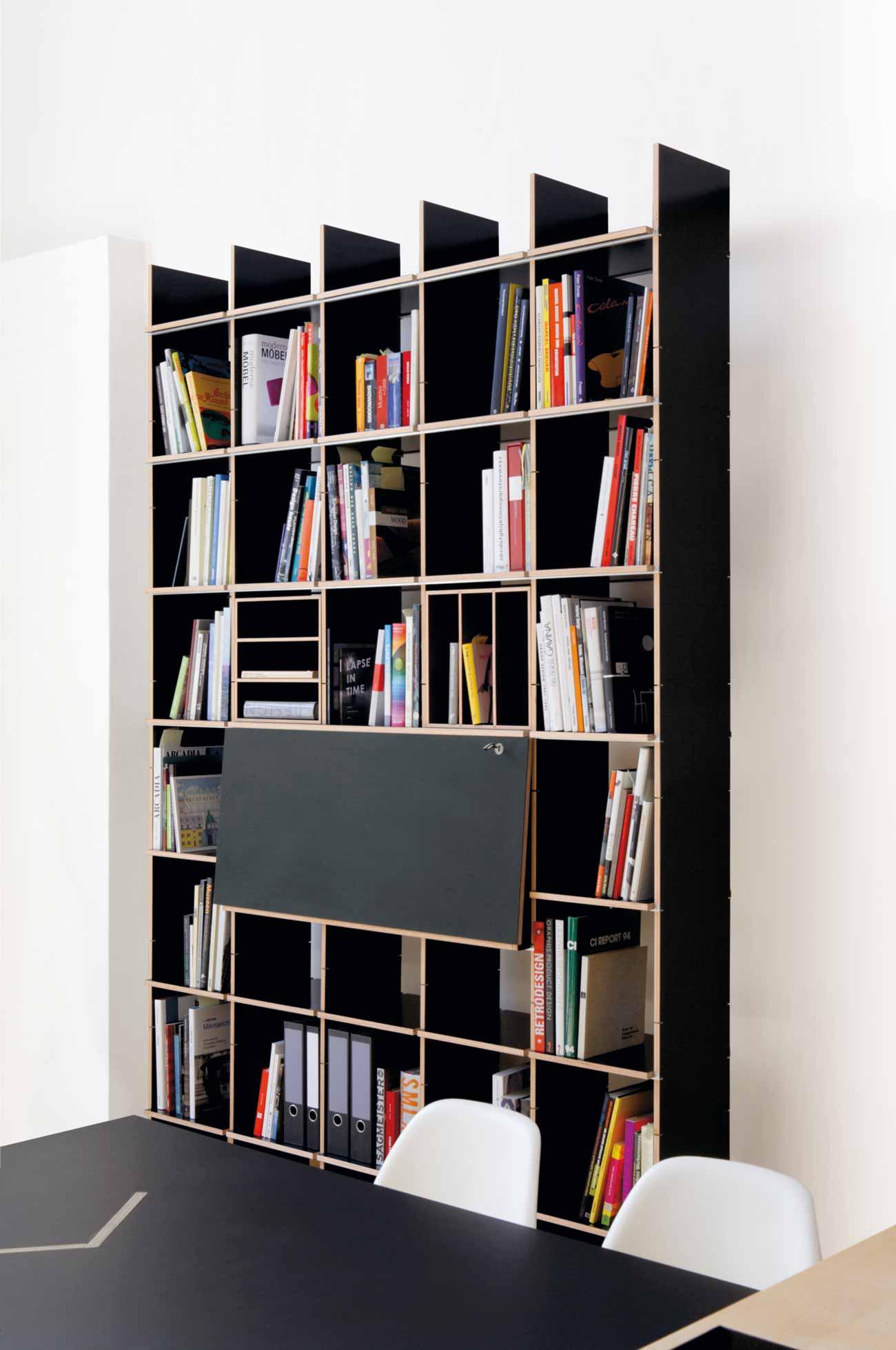 designwebstore fnp regal 5x5 fu schichtholz fu birke schichtholz schwarz. Black Bedroom Furniture Sets. Home Design Ideas