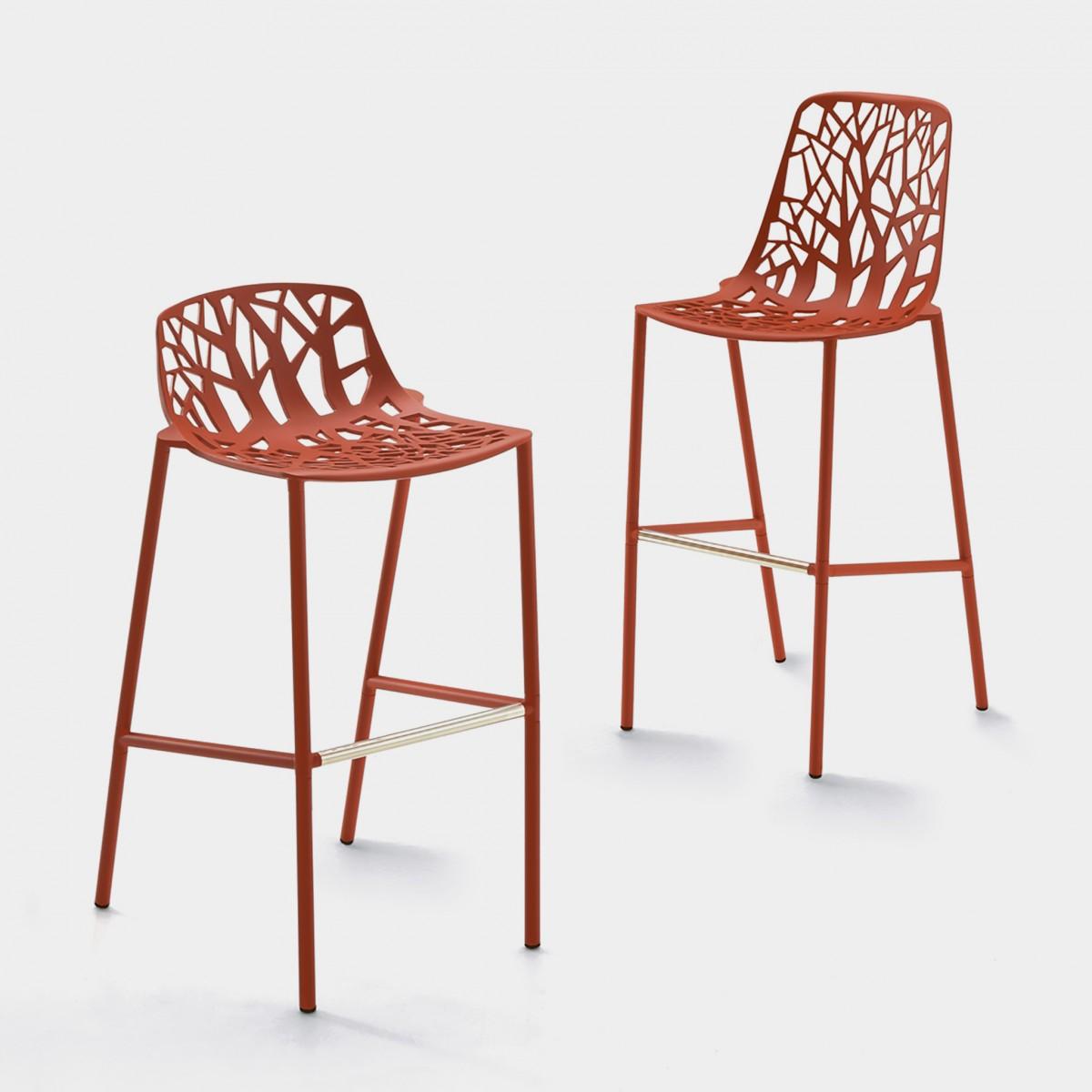 Designwebstore forest barhocker grau metallic niedrig for Barhocker taupe