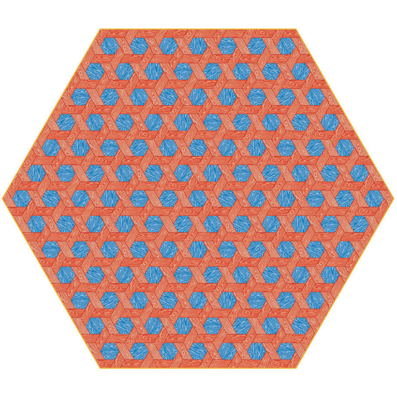 Hexagon Teppich Moooi Carpets Variante: Hexagon red-blue