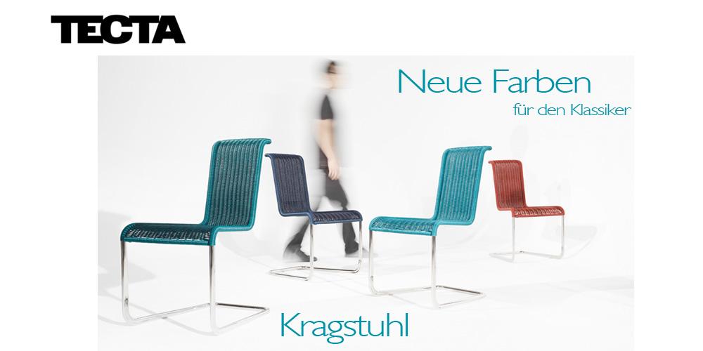 Tecta Kragstühle - neue Farben