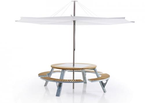 designwebstore gargantua tisch mit 4 b nken. Black Bedroom Furniture Sets. Home Design Ideas