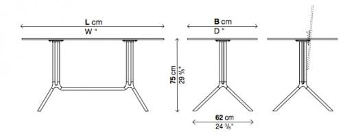Designwebstore poule double fixe platte schwarz for Klappbarer beistelltisch