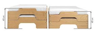KLASSIK (Standardhöhe) 40 Cm Bei Zwei Gestapelten Liegen.